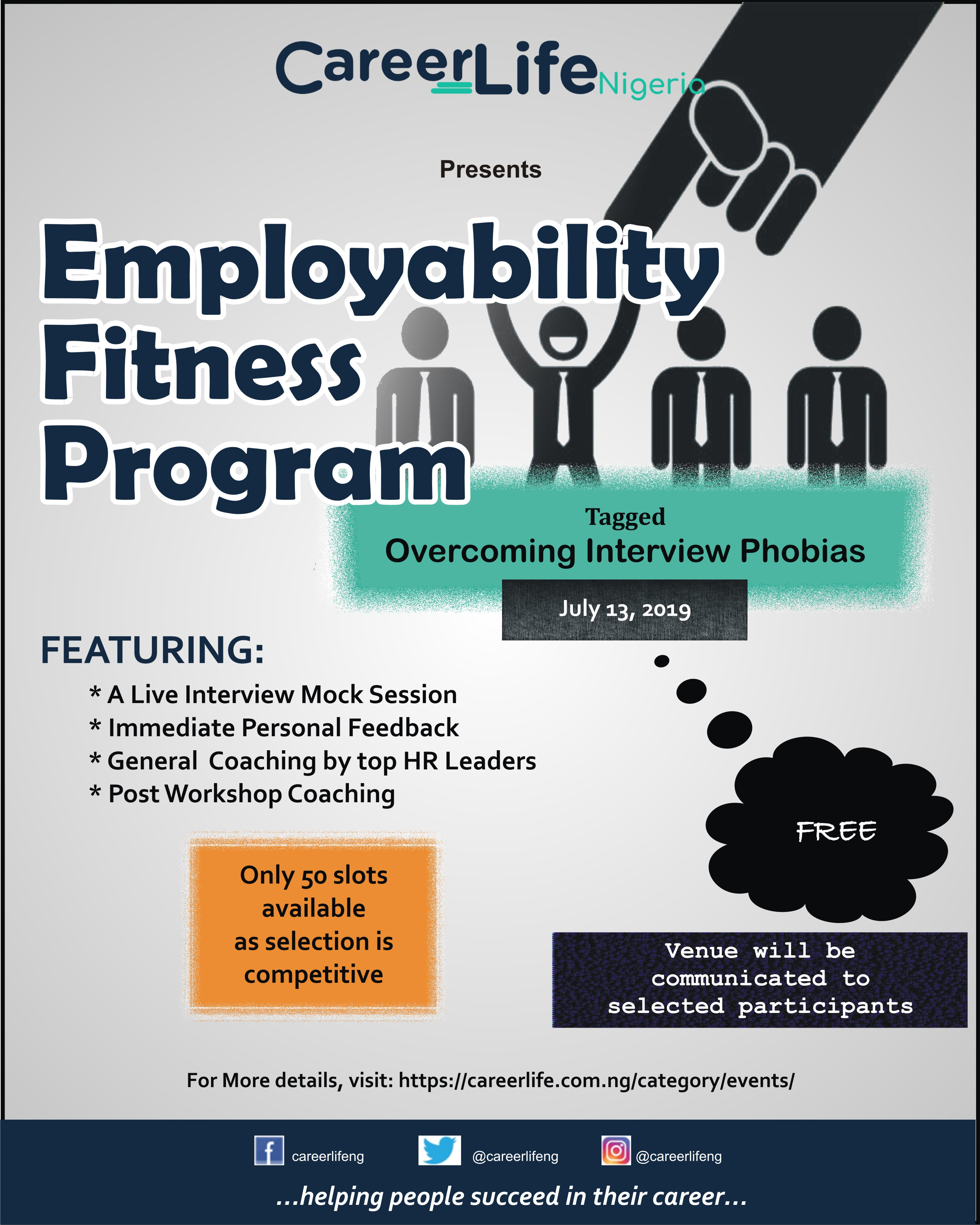 CareerLife Nigeria launches Employability Fitness Program(EFP) for young graduates